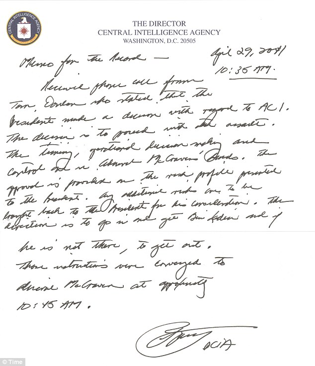 Memo for the Record_KillOrder_OBL_29apr2011